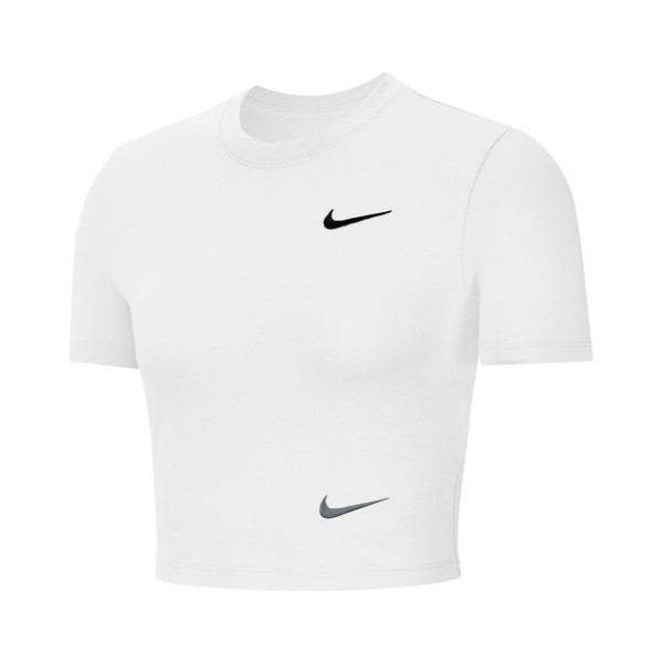 Nike Sportswear Swoosh Short-Sleeve Crop White