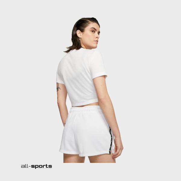 Nike Sportswear Swoosh Short-Sleeve Crop White