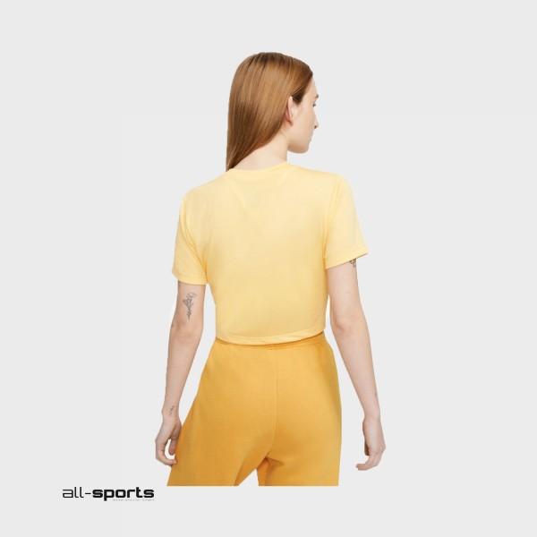 Nike Sportswear Swoosh Short-Sleeve Crop Yellow