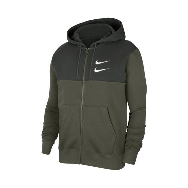 Nike Sportswear Swoosh Full-Zip Olive