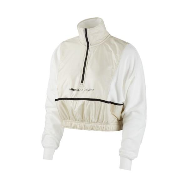 Nike WMNS Sportswear Woven 1/4-Zip Top Crop Beige