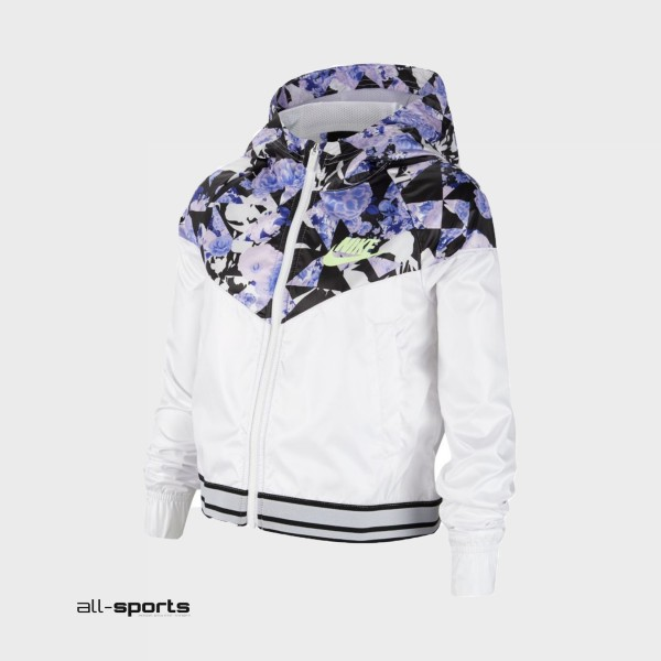 Nike Sportswear Windrunner Graphic Big Kids White