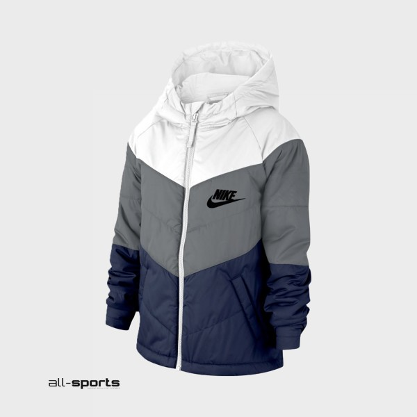 Nike Sportswear Jacket White - Grey - Blue