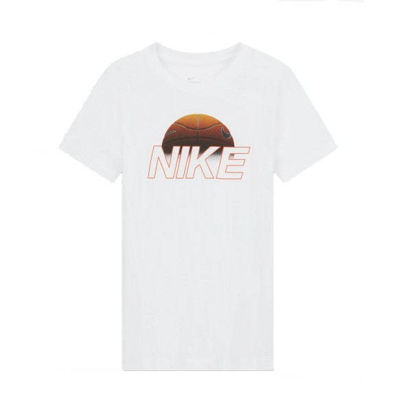 Nike Sportswear Kids' Tee Basketball Ball White
