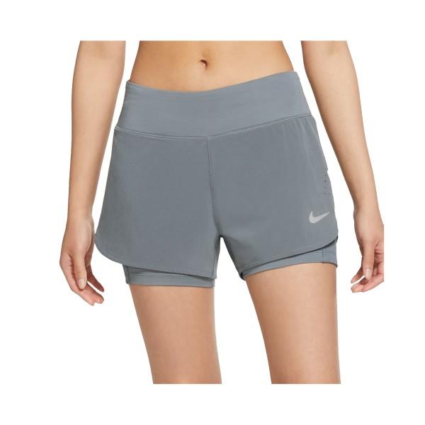 Nike Eclipse 2 In 1 Running Short Γκρι