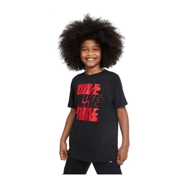 Nike Sportswear Tee Stack Kids Μαυρο