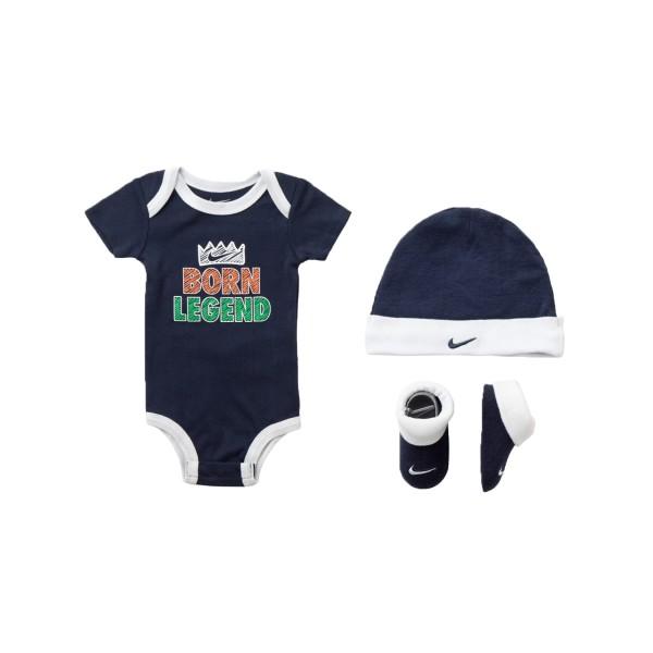 Nike Born Legend Hat - Bodysuit - Bootie 3 Pieces Blue