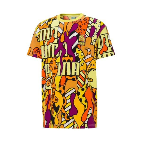 Puma X Britto All Over Print Tee Multicolor
