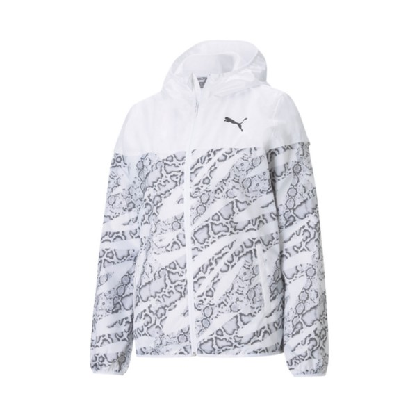 Puma Essential All Over Print Windbreaker White