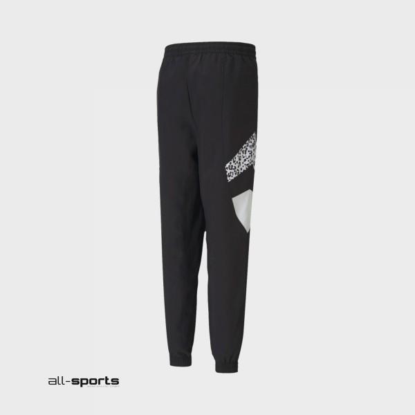 Puma TFS Printed Track Pants Black - Animal Print