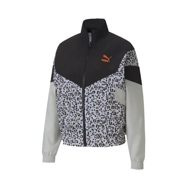 Puma Tfs Track Jacket Black - Animal Print
