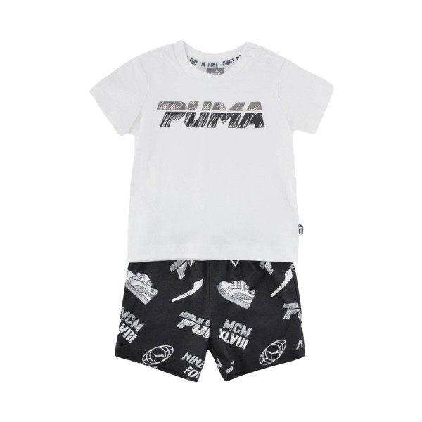 Puma Minicars Boy Set White - Black