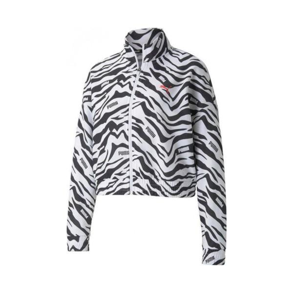 Puma Modern Sport AOP Print Track Jacket White - Black