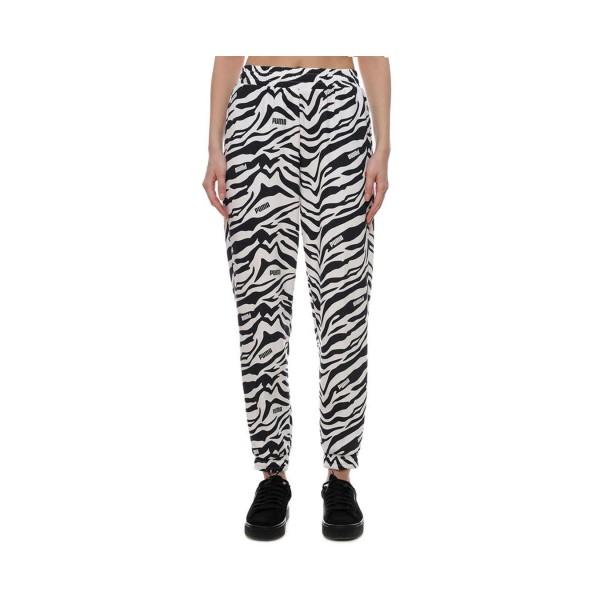 Puma Modern Sports AOP Pants White - Black