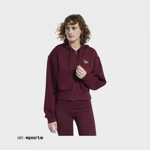 Reebok Classics Vector Hoodie Jacket Burgundy