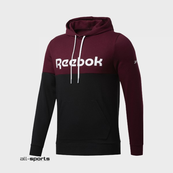 Reebok Training Essentials Logo Hoodie Black - Burgundy