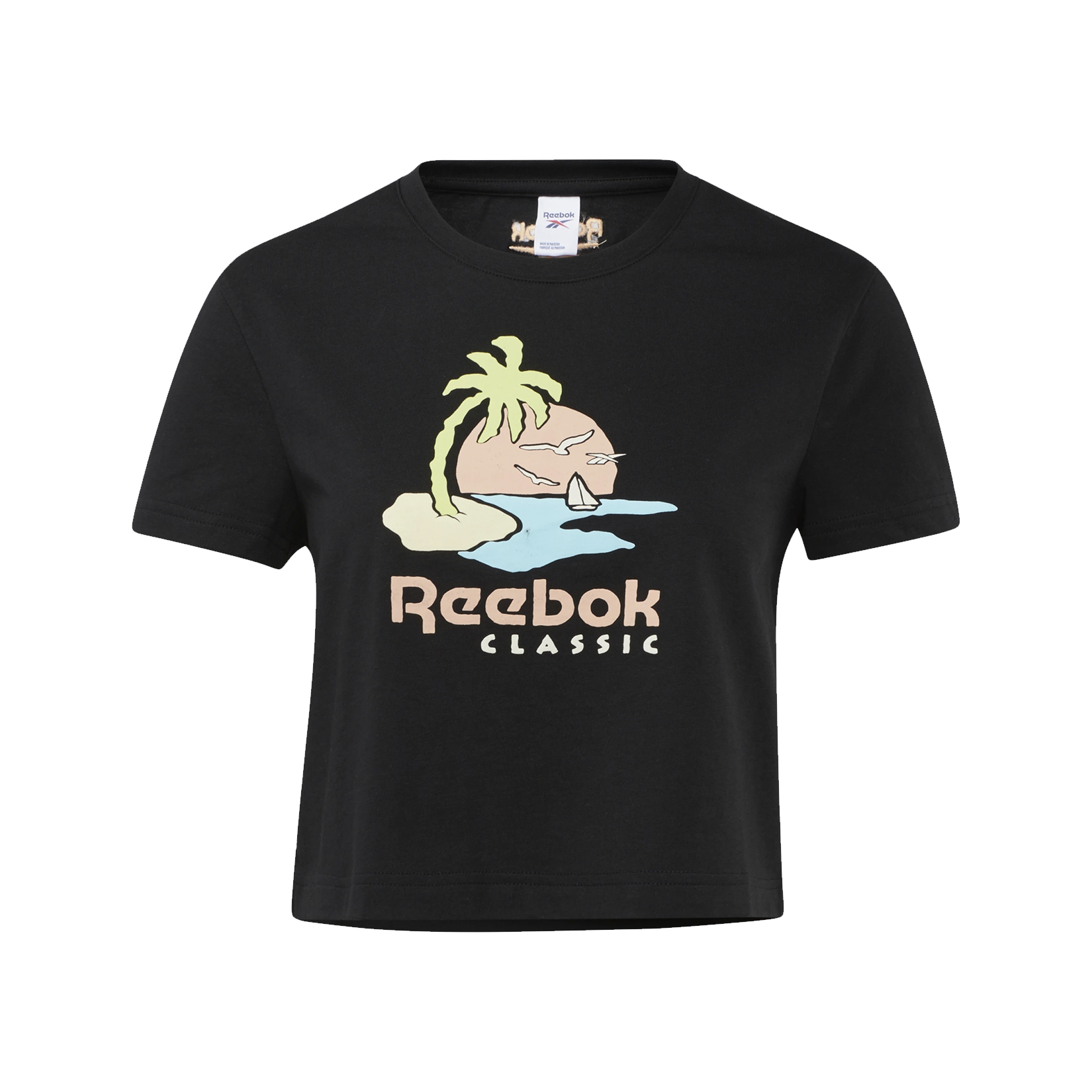 Reebok Classic Graphic Tee Crop W Black