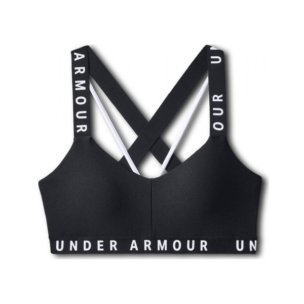 Under Armour Wordmark Strapy Sport Bra Black