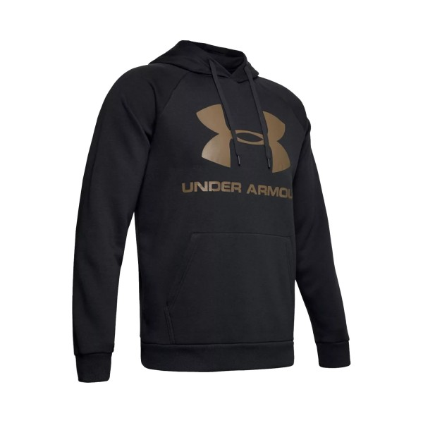 Under Armour Rival Logo Hoodie Black - Gold