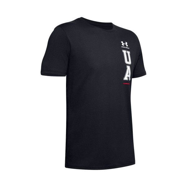 Under Armour Vertical Left Chest Tee Black
