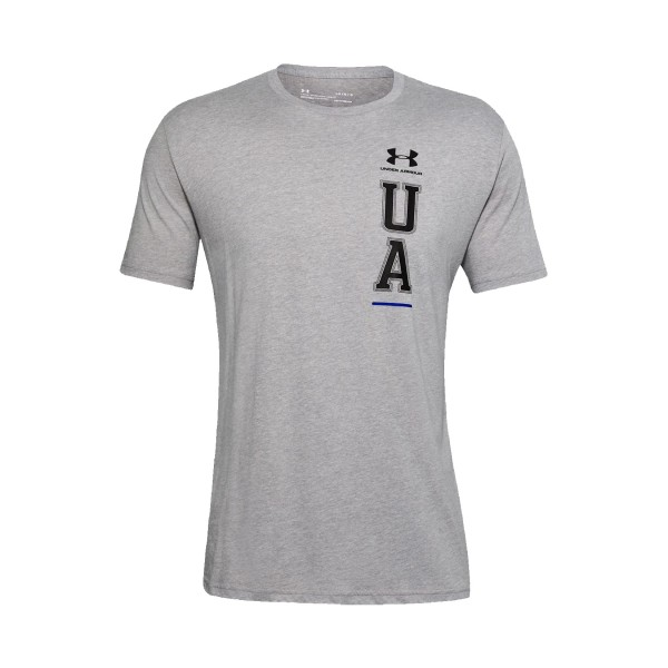Under Armour Vertical Left Chest Tee Grey