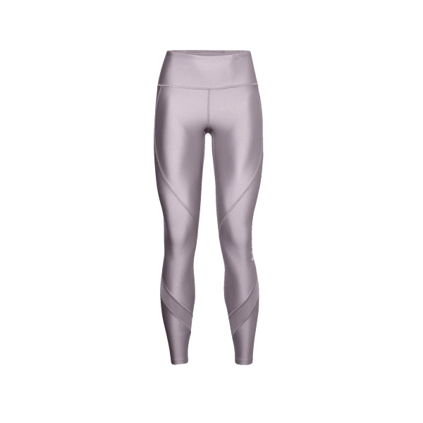 Under Armour HeatGear WordMark High Rise Leggings Purple