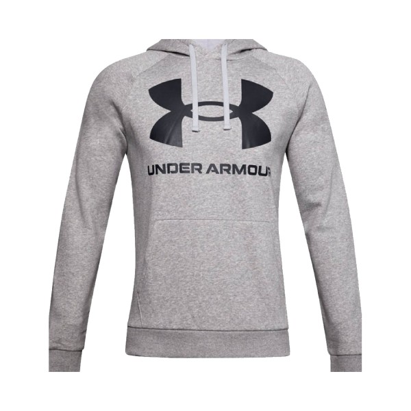 Under Armour Rival Logo Hoodie Grey