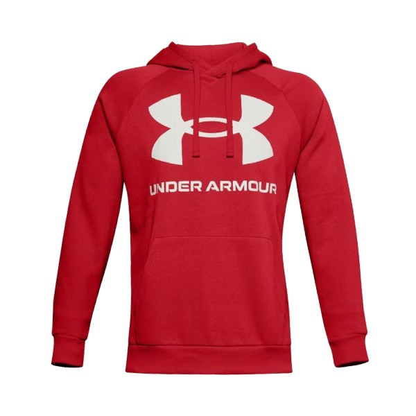 Under Armour Rival Logo Hoodie Red