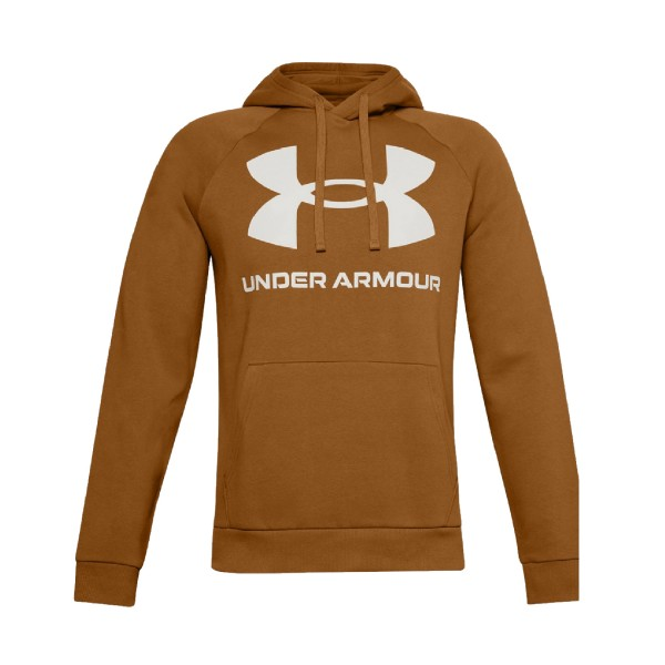 Under Armour Rival Logo Hoodie Mustard