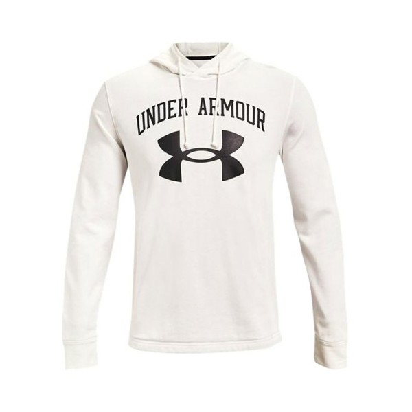 Under Armour Rival Terry Big Logo Hoodie White