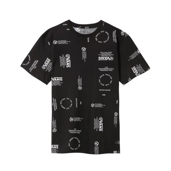 Vans Distortion Allover Print T-Shirt Black