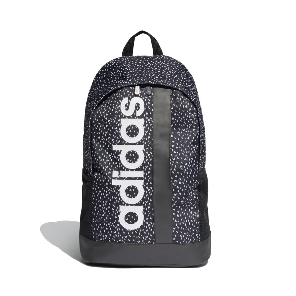 Adidas Linear Graphic Backpack Black - White