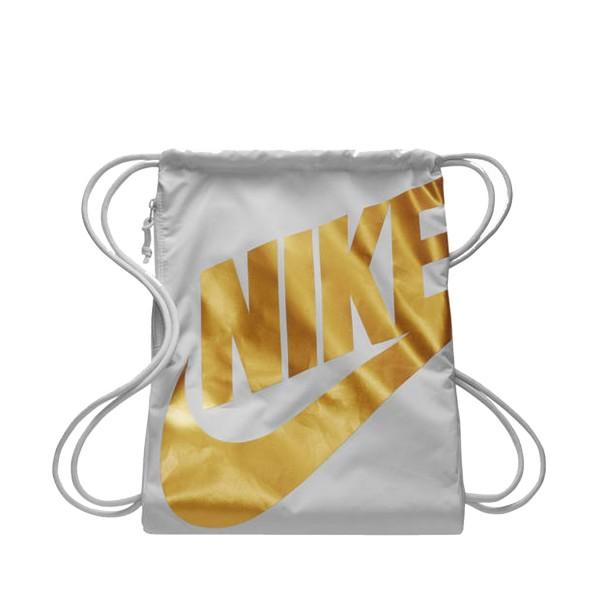 Nike Heritage Gymsack White - Gold